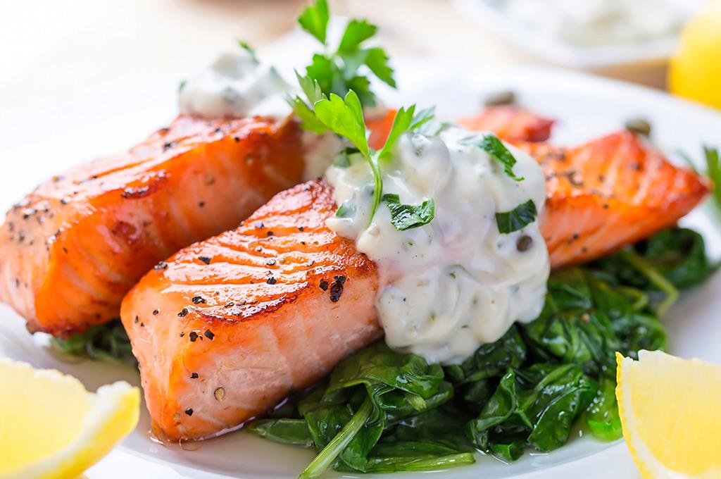 salmón al grill