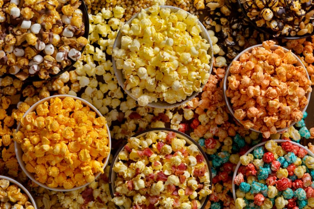 palomitas de maíz saborizadas