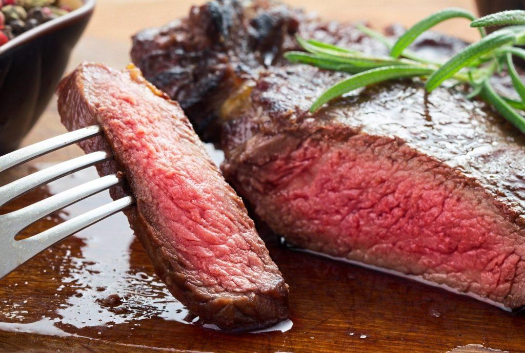 carne término medio