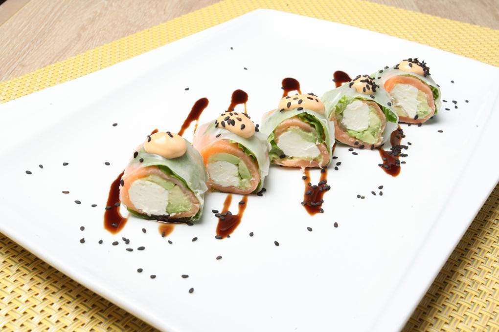 Spring roll de salmón