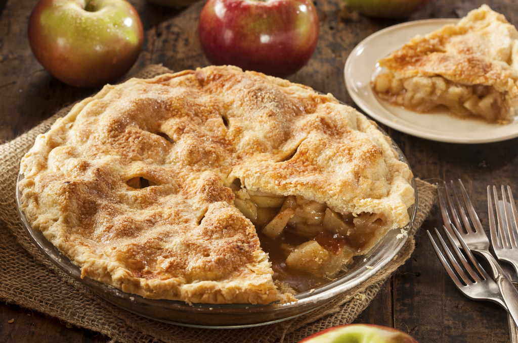 Pie de manzana y canela