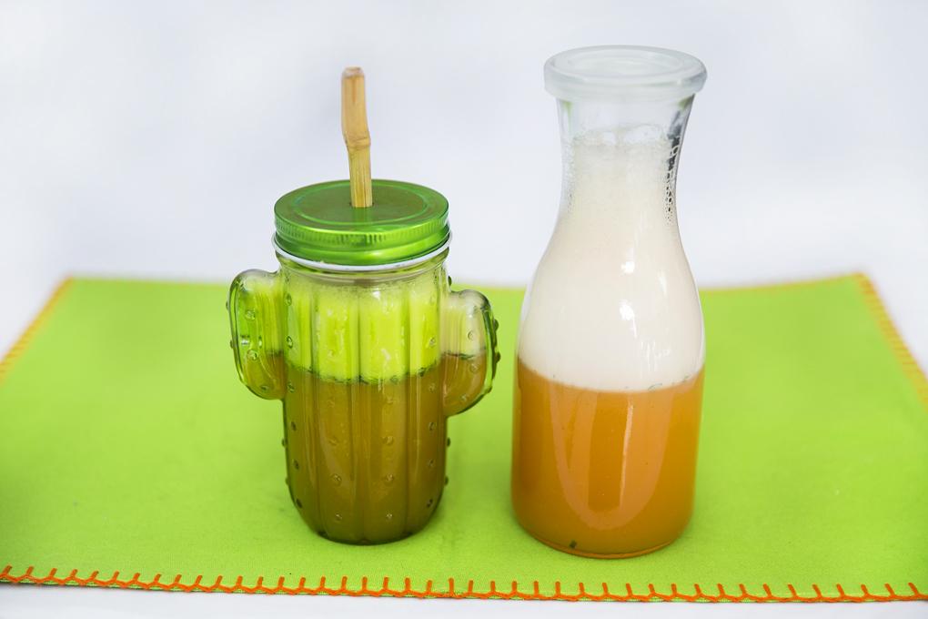 Refrescante smoothie blend, ideal para la merienda de tu hijo.