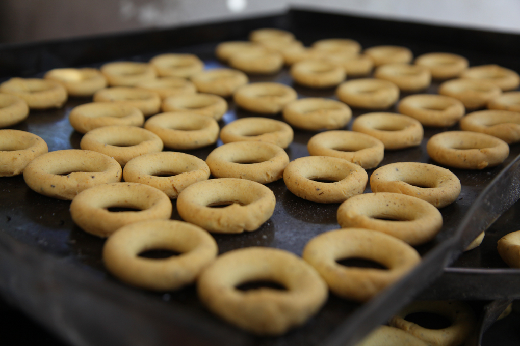 Rosquillas listas para hornear.