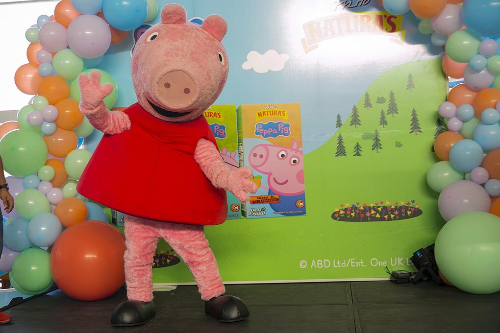 Peppa Pig encanto a los pequeños en su dia.