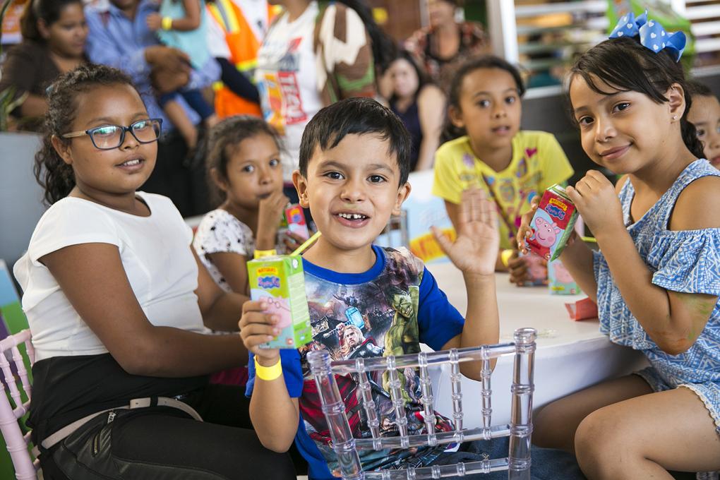 La felicidad de los pequeños se reflejaba en sus rostros.