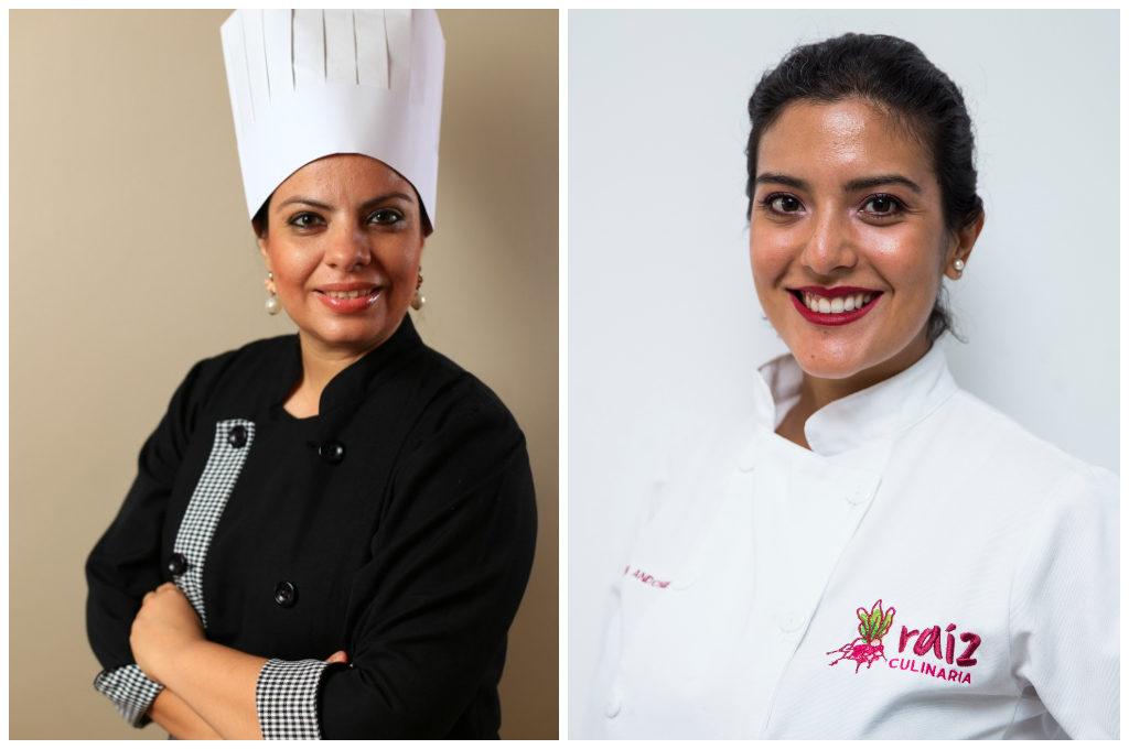 Chef Kenia Santos y chef Adriana Andonie