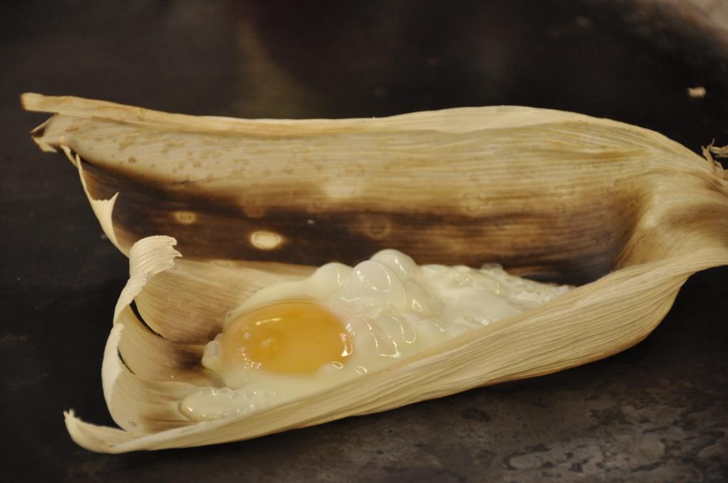 Huevo en tuza, un manjar de la cocina santarrosense.
